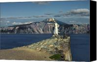 Spiritual Canvas Prints - Crater Lake - A Most Sacred Place among the Indians of Southern Oregon Canvas Print by Christine Till
