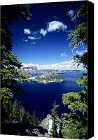 Unusual Photo Canvas Prints - Crater Lake Canvas Print by Allan Seiden - Printscapes