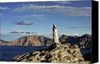 Deep Canvas Prints - Crater Lake in the southern Cascades of Oregon Canvas Print by Christine Till