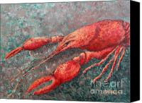 Louisiana Seafood Canvas Prints - Crawfish Canvas Print by Todd A Blanchard