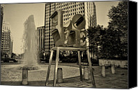 Love Park Canvas Prints - Crazy Little Thing Called Love Canvas Print by Bill Cannon