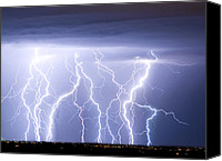 "\""striking Photography\\\"" Canvas Prints - Crazy Skies Canvas Print by James Bo Insogna"