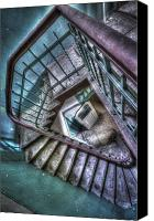 Haunted House Canvas Prints - Crazy Stairs Canvas Print by Nathan Wright