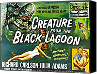 1950s Movies Canvas Prints - Creature From The Black Lagoon, Upper Canvas Print by Everett