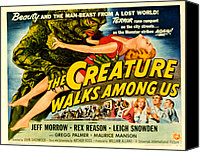 1956 Movies Canvas Prints - Creature Walks Among Us, The, Leigh Canvas Print by Everett
