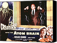 1955 Movies Canvas Prints - Creature With The Atom Brain, The Canvas Print by Everett