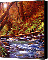 Best Choice Canvas Prints - Creek Crossing Canvas Print by David Lloyd Glover