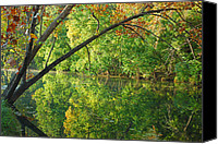 Wimberley Canvas Prints - Creekside Reflections Canvas Print by Robert Anschutz