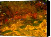 Debbie Canvas Prints - Creekwater Abstract 3 Canvas Print by Deborah  Crew-Johnson