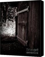 Creepy Painting Canvas Prints - Creepy Shed  Canvas Print by Tara Murphy