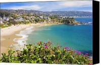 Tourist Attraction Canvas Prints - Crescent Bay Laguna Beach California Canvas Print by Utah Images