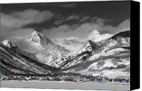 Cartoon Canvas Prints - Crested Butte Winter Fantasy Canvas Print by Dusty Demerson
