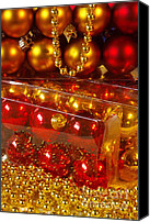 Celebrating Canvas Prints - Crhistmas Decorations Canvas Print by Carlos Caetano
