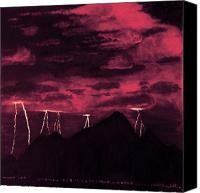 Storm Sculpture Canvas Prints - Crimson Storm Canvas Print by Dawn Hay