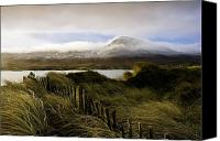 Fences Canvas Prints - Croagh Patrick, County Mayo, Ireland Canvas Print by Peter McCabe
