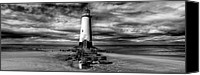 Abandoned  Digital Art Canvas Prints - Crooked Lighthouse Canvas Print by Adrian Evans