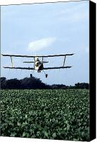 Bi Planes Canvas Prints - Crop Dusting Canvas Print by Photo Researchers