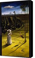White Horse Painting Canvas Prints - Croquet Canvas Print by Jane Whiting Chrzanoska