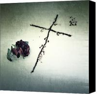 Creepy Canvas Prints - Cross Canvas Print by Joana Kruse