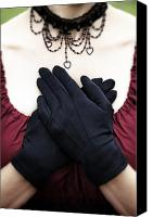 Glove Canvas Prints - Crossed Hands Canvas Print by Joana Kruse