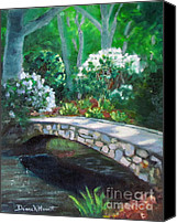 Diane Hewitt Canvas Prints - Crossing Chapel Creek Canvas Print by Diane Hewitt