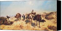 Spice Painting Canvas Prints - Crossing the Desert Canvas Print by Jean Leon Gerome