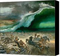 Great Painting Canvas Prints - Crossing the Red Sea Canvas Print by Anonymous