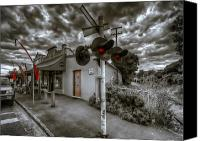 Selective Color Canvas Prints - Crossing Canvas Print by Wayne Sherriff