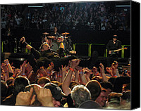 Springsteen Canvas Prints - Crowd Surfin USA Canvas Print by Jeff Ross