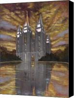 Mormon Painting Canvas Prints - Crowned with Glory Canvas Print by Jeff Brimley