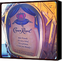 Bestfriends Canvas Prints - #crownroyal #liquor #whiskey Canvas Print by Mandy Shupp