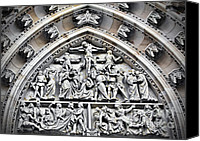 Door Canvas Prints - Crucified Christ - Saint Vitus Cathedral Prague Castle Canvas Print by Christine Till