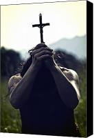 Hands Canvas Prints - Crucifix Canvas Print by Joana Kruse