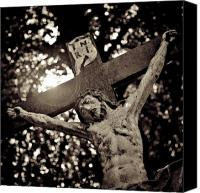 Worship Canvas Prints - Crucifixion Canvas Print by David Bowman