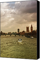 Cruise Photo Canvas Prints - Cruise On River Thames In London - England Canvas Print by Alexandre Fundone