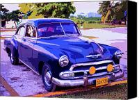 Havana Daydreams Canvas Prints - Cruiser Canvas Print by Dominic Piperata