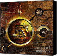 Brass Digital Art Canvas Prints - Crumbling Authority Of The Truth Canvas Print by Franziskus Pfleghart
