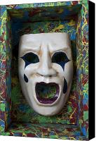 Crying Canvas Prints - Crying mask in box Canvas Print by Garry Gay
