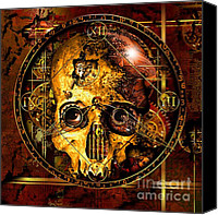 Minute Digital Art Canvas Prints - Cryptic Time Course  Canvas Print by Franziskus Pfleghart