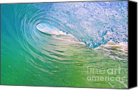 Surf Art Canvas Prints - Crystal Cavern Canvas Print by Paul Topp