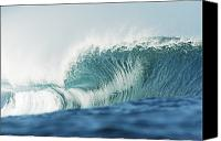Water Art Canvas Prints - Crystal Clear Wave Canvas Print by Vince Cavataio - Printscapes