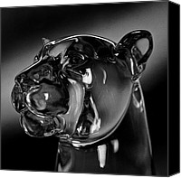 Mountain Sculpture Photo Canvas Prints - Crystal Cougar Head III Canvas Print by David Patterson