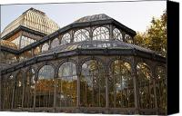 Retiro Canvas Prints - Crystal Palace in Madrids Retiro Park Royal Canvas Print by Larisa Karpova
