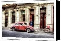 Photographs Digital Art Canvas Prints - Cuba 17 Canvas Print by Marco Hietberg