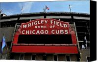 Wrigley Field Canvas Prints - Cubs House Canvas Print by Lyle  Huisken