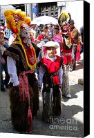 Father Christmas Canvas Prints - Cuenca Kids 156 Canvas Print by Al Bourassa