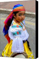 Bandana Canvas Prints - Cuenca Kids 210 Canvas Print by Al Bourassa