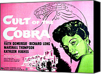 1955 Movies Canvas Prints - Cult Of The Cobra, Faith Domergue Canvas Print by Everett