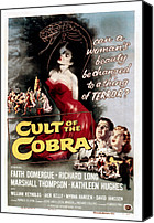 1955 Movies Canvas Prints - Cult Of The Cobra, Marshall Thompson Canvas Print by Everett