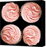 Junk Canvas Prints - Cup cakes Canvas Print by Jane Rix